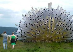 Artist Luke Jerram is preparing an outdoor 'acoustic pavilion' called Aeolus, which will be built of hundreds of metal tubes acting as Aeolian harps. Sound Sculpture, Wind Sculptures, Sculpture Art, Sculpture Garden, Sound Installation, Art Installations, Sound Art, Kinetic Art, Outdoor Art