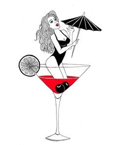 Drowning in alcohol. _ #drowning #alcohol #drowninginalcohol #feeling #martini #lemon #girl #woman #umbrella #art #artist #artwork #blackandred #design #dotwork #drawing #details #graphisme #graphicdesign #ink #instaart #illustrator #illustration #pen #project #quotes #tattoodesign #pinup