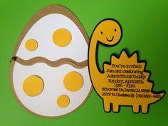 Dinosaur Invitations Egg