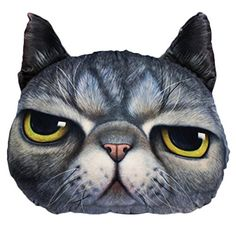 Lifelike Cat Pattern Decorative Pillows 15x14
