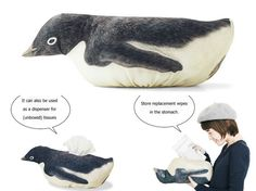If a penguin belly flopping all over the house doesn't motivate you to do the chores, I don't know what will. This penguin floor wipe cover is an adorable accessory for your mop. Simply attach the tuxedoed bird through the handle of your floor wipe, and watch it slide on its belly as you clean […]