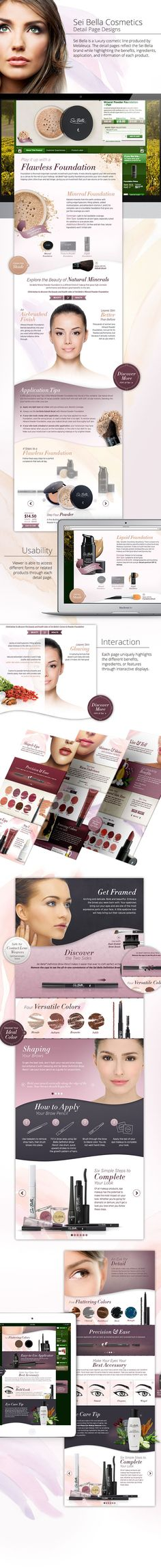 Sei Bella Cosmetic Detail Pages on Behance