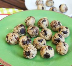 No Bake Coconut & Chocolate Chip Cookie Dough Bites. Vegan & Gluten Free never tasted this good.  Easy!