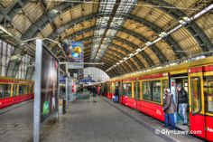 https://flic.kr/p/edq3Co | Berlin Alexanderplatz Train Station | Berlin Alexanderplatz is a railway station in the Mitte district of Berlin's city centre. It is one of the busiest transportation hubs in the Berlin area. The station is named for the Alexanderplatz square on which it is located, immediately beneath the Fernsehturm and the World clock.  More Photos At: www.glynlowephotoworks.com/Germany/Berlin/Berlin-Alexanderplatz-Station/