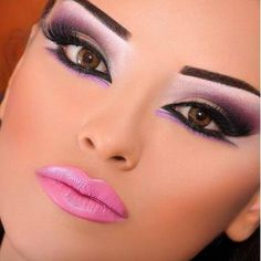 Pink Arabic Eye Look by Cynthia. Click the pic to see what products she used. #beauty #makeup #bestofbeauty