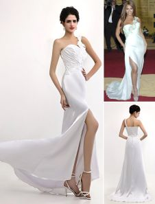 Sexy White Elastic Woven Satin One Shoulder Gossip Girl Fashion Dress. Get unbelievable discounts up to 65% Off at Milanoo using Coupon & Promo Codes.