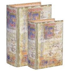 Antiqued Book Boxes Set Of 2 #Hg