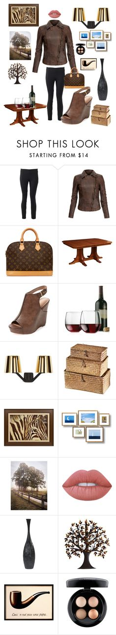 """""""Cocktail Fashion"""" by kotnourka ❤ liked on Polyvore featuring Brunello Cucinelli, MuuBaa, Louis Vuitton, DutchCrafters, Charles by Charles David, Libbey, Tom Dixon, Dot & Bo, Lime Crime and Benzara"""