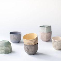 Pastel ceramic tumbler, Hexagon ceramic cup matte, Modern ceramic housewarming gift for men, Modern ceramic cups, Geometric porcelain cup Ceramic Shop, Ceramic Cups, Ceramic Art, Pottery Mugs, Pottery Art, Housewarming Gifts For Men, Modern Ceramics, Ceramics Ideas, Mugs