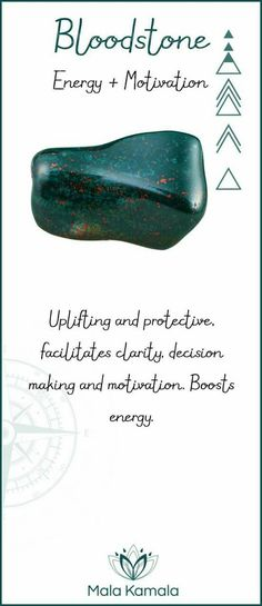 bloodstone represents energy and motivation