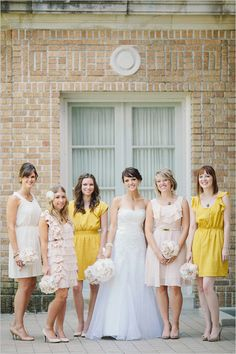 cute yellow bridesmaid dresses