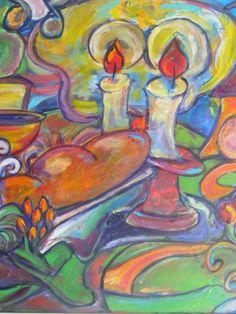 Shabbat Light by JulieWohlJudaica on Etsy, $40.00