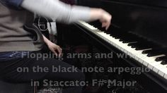 Piano Technique: Practicing the F-Sharp Major Arpeggio with various stra...