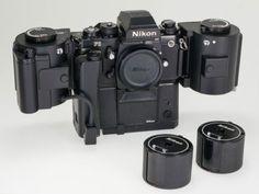 Nikon-F3HP-35mm-SLR-Film-Camera-w-MD-4-Motor-Drive-MF-4-MZ-1-AH-3-kit
