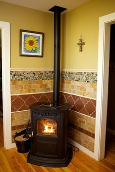 1000 Images About Living Room Wood Stove On Pinterest