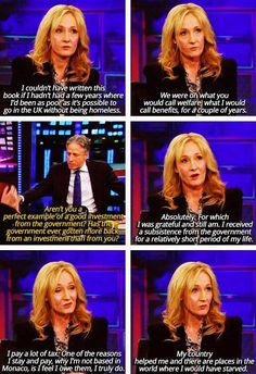 I wouldn't expect anything less from the woman who created Harry Potter.
