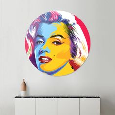 Discover «Marilyn Monroe Pop Art», Exclusive Edition Disk Print by Alfred Tezar…