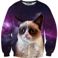 Grumpy Cat Galaxy Sweater. Getting this for Meggie!