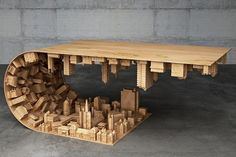 Funny pictures about Coffee Table Based On Scene From Inception. Oh, and cool pics about Coffee Table Based On Scene From Inception. Also, Coffee Table Based On Scene From Inception photos. Coffee Table Base, Unique Coffee Table, Coffee Table Styling, Coffee Table Design, Creative Coffee, Creative Gifts, Wood Furniture, Furniture Design, Modern Furniture