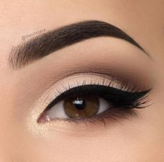 Natural Winter eye look. Taupe and beige eye.