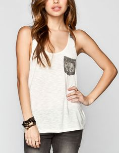 VOLCOM Woah Tiger Girls Tank 227738151 | Tanks & Camis | Tillys.com