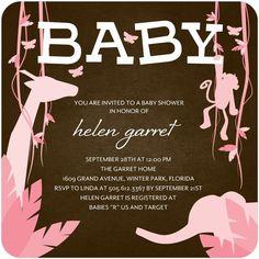 Baby Shower Invitations - Playful Paradise