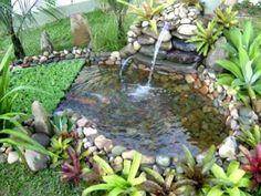 Fábrica de Idéias - Tudo em Paisagismo e Decoração: Cascata No Jardim