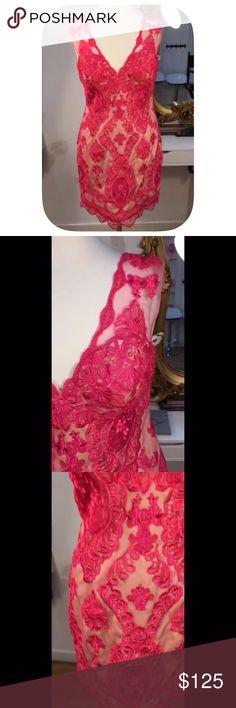 Jovani Hot Pink Dress Sz. 0 NWT Never worn.  Slight padding (built in bra) at top. Jovani Dresses Mini