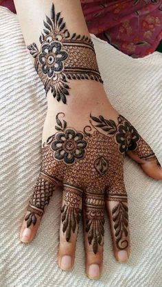 Browse the latest Mehndi Designs Ideas and images for brides online on HappyShappy! We have huge collection of Mehandi Designs for hands and legs, find and save your favorite Mehendi Design images. Henna Hand Designs, Eid Mehndi Designs, Mehndi Designs Finger, Modern Mehndi Designs, Mehndi Designs For Girls, Mehndi Design Pictures, Wedding Mehndi Designs, Beautiful Henna Designs, Latest Mehndi Designs