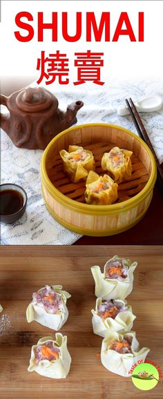 Traditional Cantonese Shumai recipe just like what you get from the Chinese Dim Sum restaurant. Easy Asian Recipes, Mexican Food Recipes, Dessert Recipes, Asian Cooking, Easy Cooking, Cooking Recipes, Vegan Kitchen, Kitchen Recipes, Shu Mai Recipe