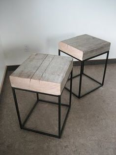 End tables to go with my pallet coffee table that we're going to make...
