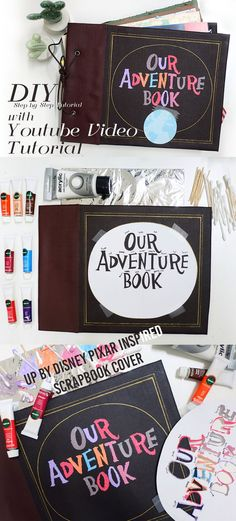 DIY up disney pixar scrapbook journal my adventure book tutorial with youtube video step  by step tutorial - Tap the link to shop on our official online store! You can also join our affiliate and/or rewards programs for FREE!