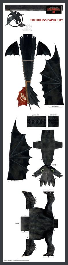 Toothless diy sculpture httyd pinterest design for Cardboard dragon template
