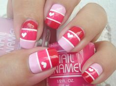 Uñas decoradas con corazones, besos y más para San Valentín – Parte 4 – Love Nails   Decoración de Uñas - Manicura y Nail Art - Part 4