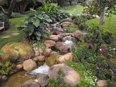 18m bachlauf im garten bauen | anleitung fÜr naturstein-bach, Garten Ideen