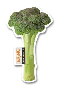 Ein Brokkoli als Lufterfrischer, Duftbaum, Duftanhänger für einen Schweizer Hersteller von Lebensmittelverpackungen.