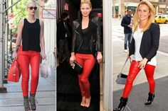 Red Leather Pants: Who Does it Best? - Celebrity Style - StyleBistro