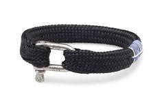 Sharp Simon - Flat braid rope bracelet with shackle