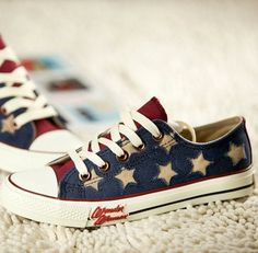 Japanese star canvas shoes
