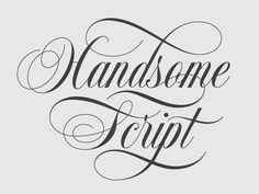 Handsome Script by Drew Melton