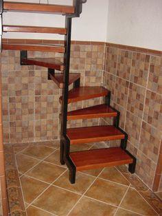 Escaleras de madera en chile clientes clientes - Escaleras semi caracol ...