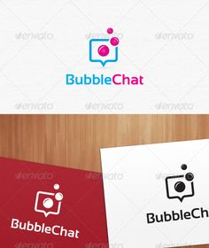 Bubble Chat Logo Templates by SBJEWEL Welcome Bubble Chat Logo for your online and social related company etc. Speciality100 vector logo; so every single shapes, color