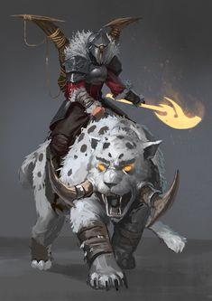 The Beastmaster, Josh Corpuz on ArtStation at https://www.artstation.com/artwork/the-beastmaster