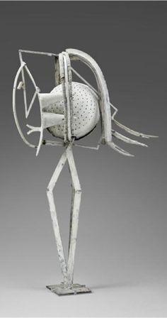 Sculpture by Pablo Picasso, Woman Head, assemblage, iron, Paris.