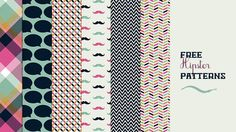 TODAY I'M GIVING AWAY A SET OF #FREE #HIPSTER #PATTERNS PERFECT FOR USE IN PRINT, FOR WALLPAPERS, POSTERS, CARDS, WEB DESIGN AND MORE! http://customwebdesignseo.com/download-8-free-creative-patterns/