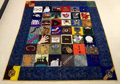 Harry Potter inspired quilt!  Each row represents scenes from each of the seven books. Four corners- four Hogwarts houses. Phew- that was a lot of work!!!