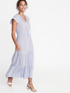 06f368bba47 Waist-Defined Crepe Maxi Dress for Women. Weather WearWarm WeatherRuffle  SleeveModest FashionOld NavyCasual DressesWomen s ...