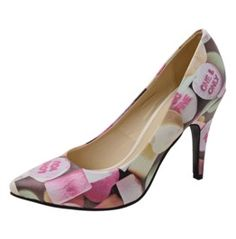 a0595822d Vegan Candy Hearts Pointed Rockabilly Retro Pin Up Heels Free Us Shipping  $80.00 Blue Pumps,