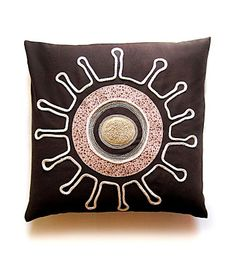 lamoppe: terra Handmade Home Decor, Home Decor Items, My Works, Throw Pillows, Fabric, Pattern, Inspiration, Design, Tejido