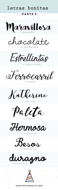 invitaciones tipos de letras - Recipes, tips and everything related to cooking for any level of chef. Calligraphy Fonts, Typography Fonts, Designers Gráficos, Handwriting Fonts, Brush Lettering, Grafik Design, Cool Fonts, Art Plastique, Alphabet